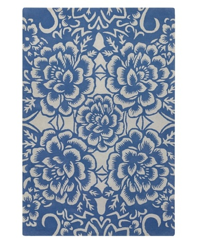 Chandra Counterfeit Studio Hand Tufted Wool Rug [Blue]