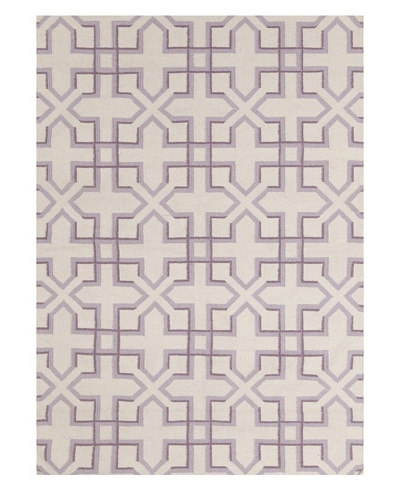 Chandra Wheat Rug, Lavender/Ivory, 5' x 7'