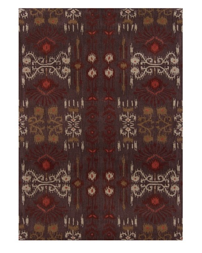 Chandra Lina Rug [Taupe/Burgundy/Brown]