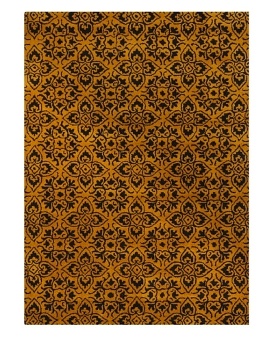 Chandra Bajrang Rug [Orange/Black]