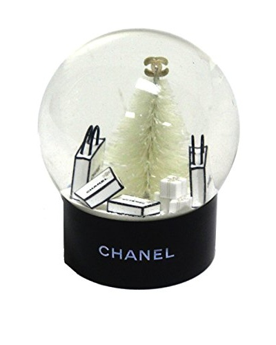 CHANEL Snow Globe, White/Black