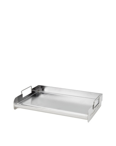 Charcoal Companion Stainless Pro Rectangle Griddle, Silver