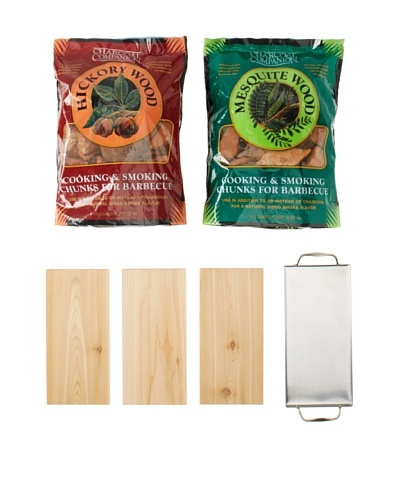Charcoal Companion Gourmet Cedar Smoking Plank SetAs You See