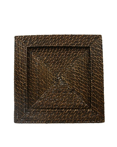 """Charge It! by Jay Set of 4 Rattan Charger Plates, Brown, 13"""" x 13"""""""