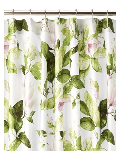 Charisma Bloom Shower Curtain, White/Multi, 72 x 72
