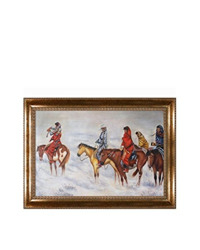 Charles Marian Russell Lost In A Snowstorm Oil Painting