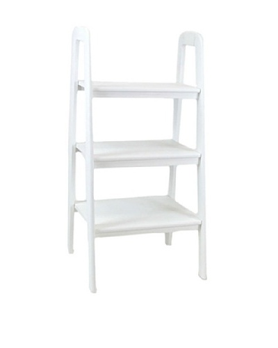 Charleston Ladder Stand, White