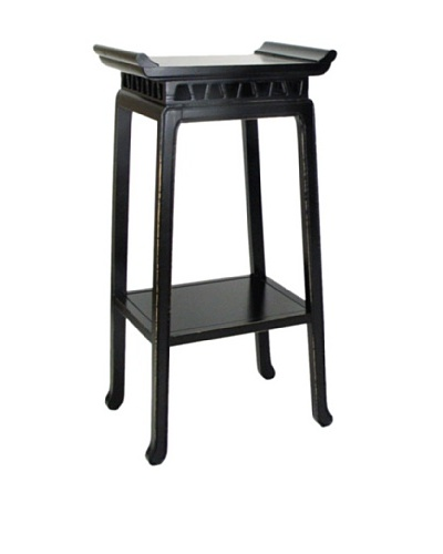 Charleston Chow Pedestal, Antique Black