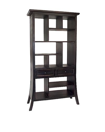 Charleston Suchow Display Unit, Antique Black