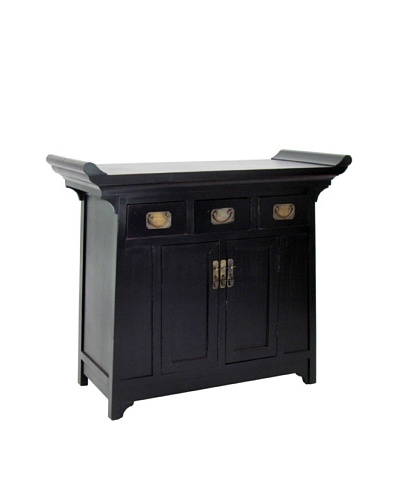 Charleston Alter Cabinet, Antique Black