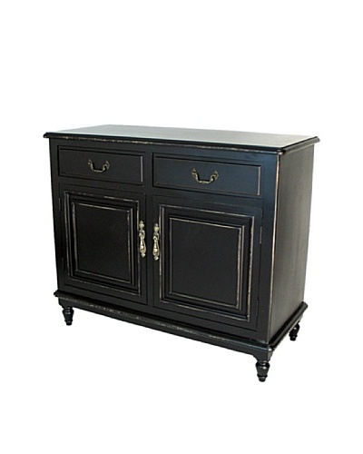 Charleston Paladin Buffet Cabinet, Antique Black