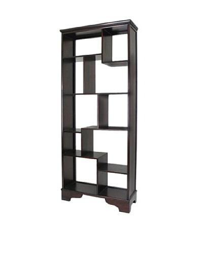 Charleston Vertical Display Unit, Dark Brown