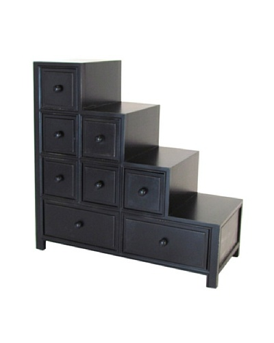 Charleston Suchow Reversible Step Chest, Antique Black