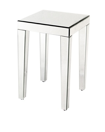 Charleston Beveled Mirror End Table