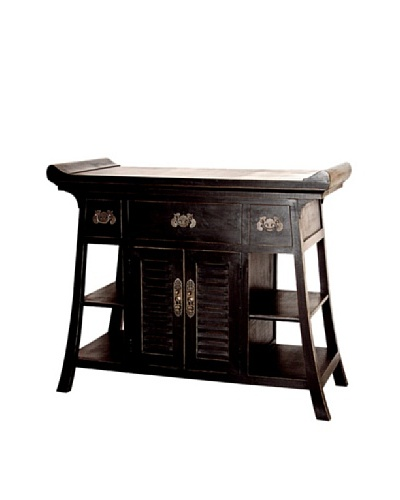 Charleston Fullhouse Alter Table, Antique Black