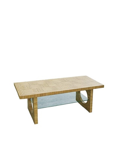 Charleston Bamboo TV Console, Light Brown