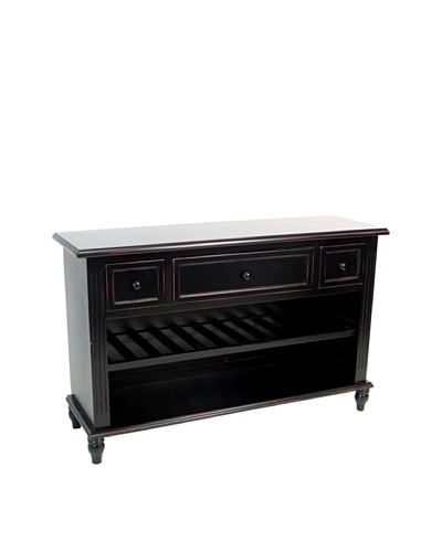 Charleston Wine Sideboard, Black