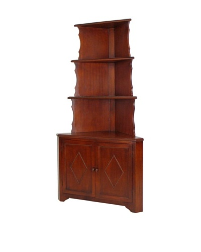 Charleston Corner Display, Brown