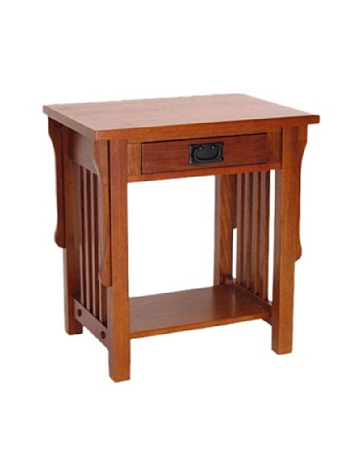 Charleston Oak Finish Night Stand, Oak Finish