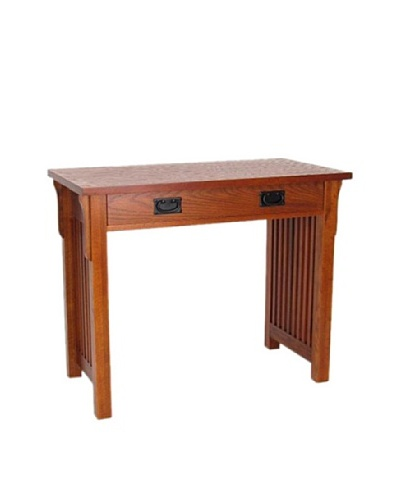 Charleston Writing Desk, Oak Finish