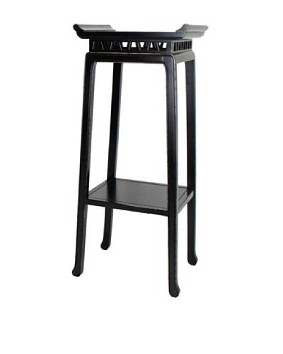 Charleston Chow Pedestal, Antique Black