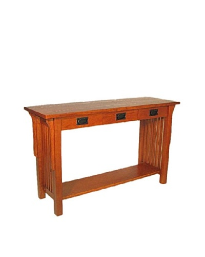 Charleston Mission Table, Oak Finish