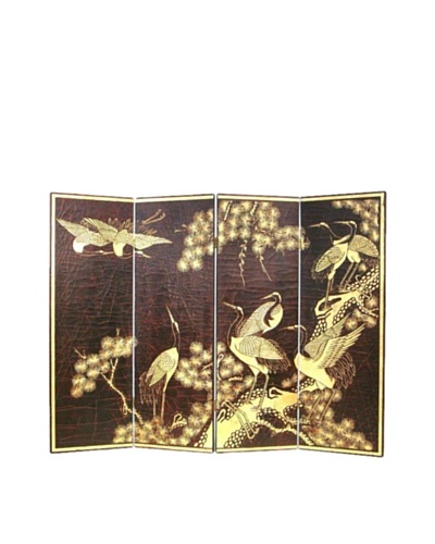 Charleston Wall Screen, Black/Gold