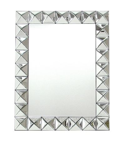 Charleston Beveled 3D Round Mirror