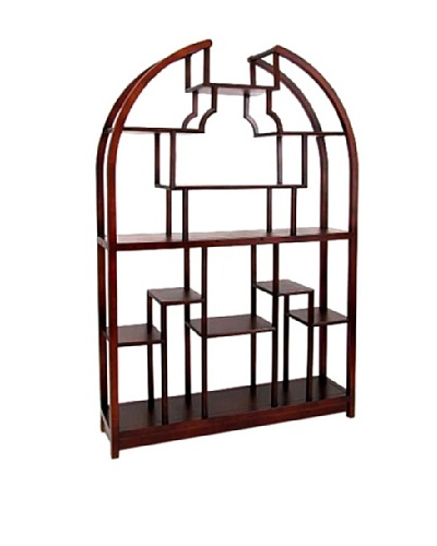 Charleston Étagère Display Unit, Dark Brown