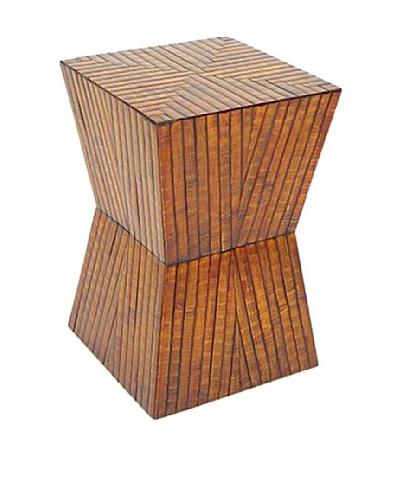 Charleston Bamboo Stool, Honey Brown
