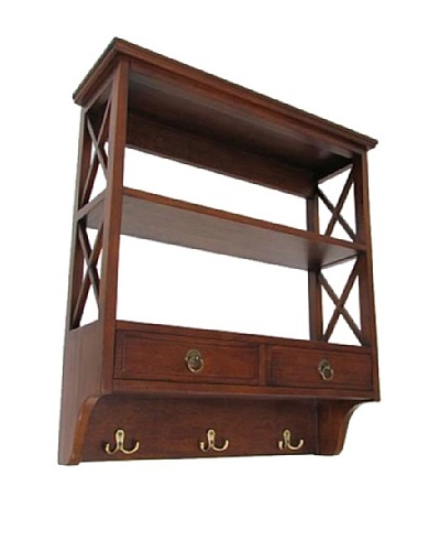 Charleston Display Rack, Brown