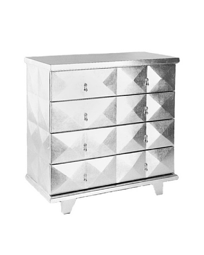 Charleston Hollywood Chest, Silver Leaf