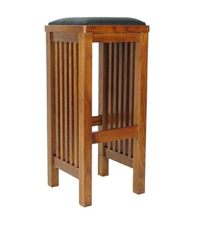 Charleston Barstool, Oak Finish