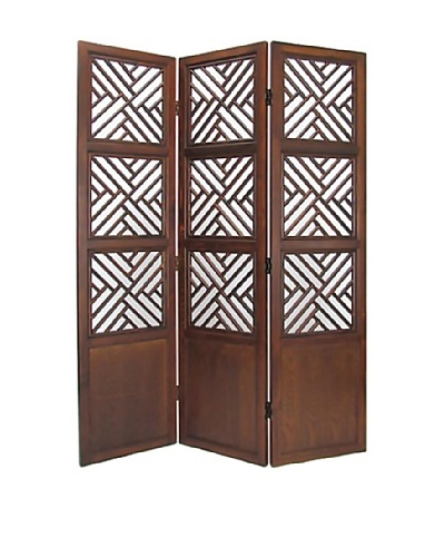 Charleston Lattice Screen, Walnut
