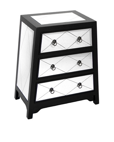 Charleston Tanner Mirror Chest, Black