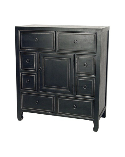 Charleston Suchow Apothecary Chest, Antique Black
