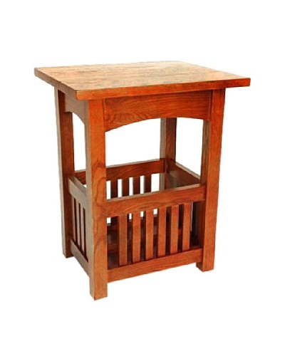 Charleston Oak Finish End Table, Oak Finish