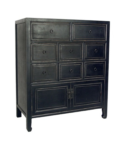 Charleston Suchow Chest, Antique Black