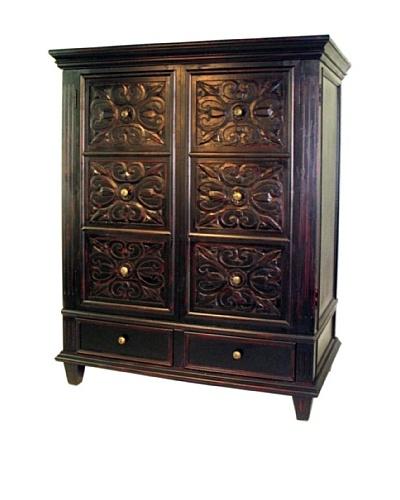 charleston benfu tv armoire cabinet antique black