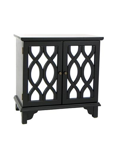 Charleston Tanner Mirror Cabinet, Black