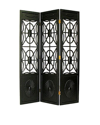 Charleston Spider Web Screen, Antiqued Black