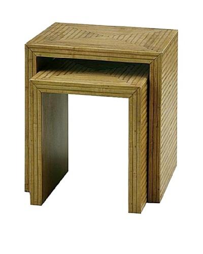 Charleston Bamboo Nesting Tables, Light Brown