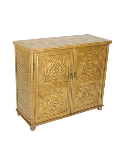 Charleston Bamboo Cabinet, Honey Brown