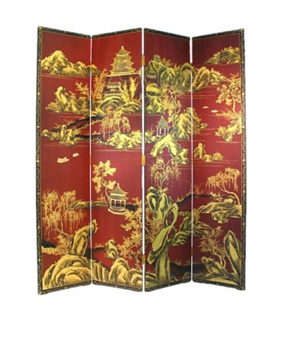 Charleston Red Chinese Screen, Multi