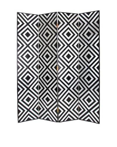 Charleston Moderage Screen, Black/Silver