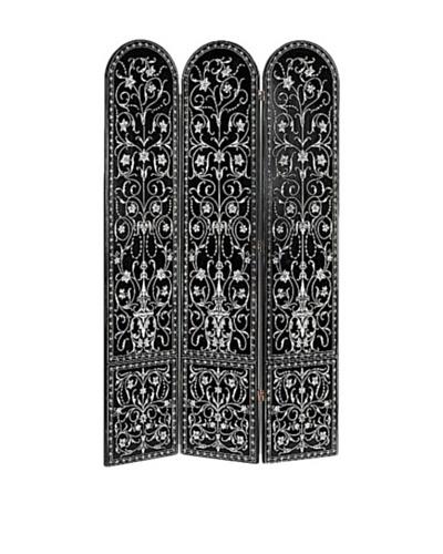 Charleston Coromandel Screen, Black/Silver