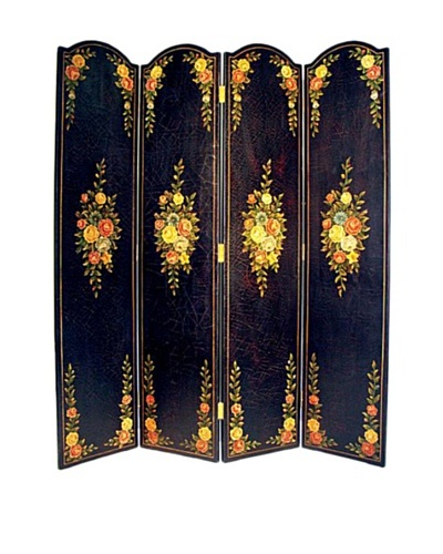 Charleston Black Floral Screen, Multi