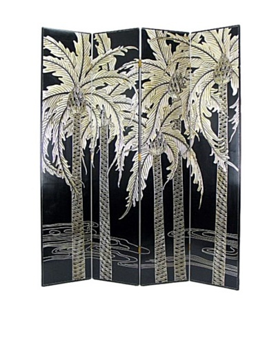 Charleston Palm Screen, Black/Silver