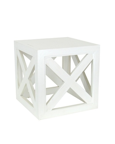 Charleston Furniture Check Table [White]