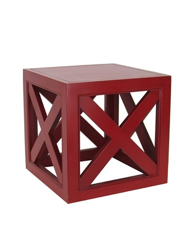 Charleston Furniture Check Table [Red]